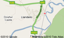 Llandeilo map via google